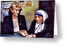 Mother Teresa In Calcutta Greeting Card