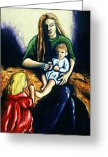 Mother With Children Greeting Card