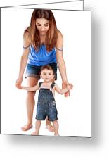 Mother With Little Son Greeting Card