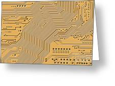 Motherboard - Printed Circuit Greeting Card by Michal Boubin