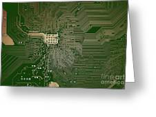 Motherboard Architecture Green Greeting Card