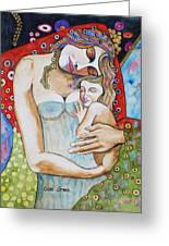 Motherhood - Tribute To Klimt Greeting Card