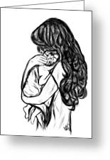 Mother's Loving Embrace Greeting Card