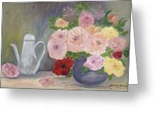 Mother's Roses Greeting Card by Shirley Lawing