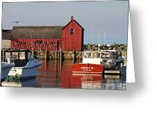 Motif No. 1 Reflections Rockport Massachusetts Greeting Card