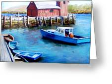 Motif One Rockport Harbor Greeting Card