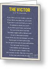 Motivational Poem - The Victor Greeting Card