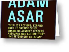 Motivational Quotes - Adam Asar Greeting Card