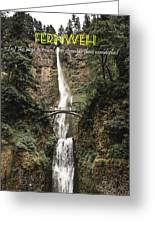 Motivational Travel Poster - Fernweh Greeting Card
