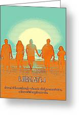 Motivational Travel Poster - Hireath 2 Greeting Card