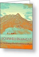 Motivational Travel Poster - Schwellenangst 2 Greeting Card