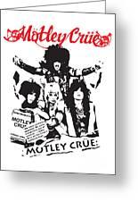 Motley Crue No.01 Greeting Card by Caio Caldas