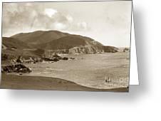 Notleys Landing Big Sur Coast Circa 1933 Greeting Card