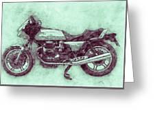 Moto Guzzi Le Mans 3 - Sports Bike - 1976 - Motorcycle Poster - Automotive Art Greeting Card