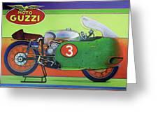 Moto Guzzi V8 Greeting Card
