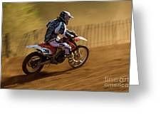 Motocross Greeting Card
