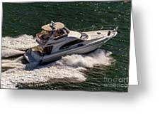 Motor Boat 2 Greeting Card