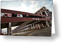 Motor City Industrial Park The Detroit Packard Plant Greeting Card