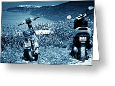 Motor Scooters In Greece Greeting Card