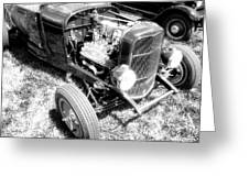 Motor Wheel Bw Greeting Card