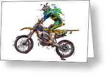 Motorbiker Greeting Card