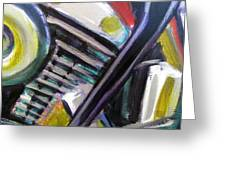 Motorcycle Abstract Engine 1 Greeting Card