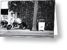 Motorcycle In Big Spring Tx Greeting Card