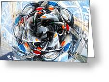 Motorcycle Mixup Greeting Card