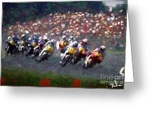 Motorcycle Race Greeting Card