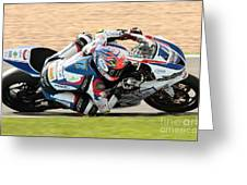 Motorcycle Racing Greeting Card