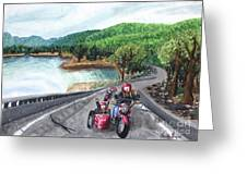Motorcycle Ride Greeting Card