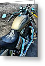 Motorcycle Shadow Sabre 2 Greeting Card