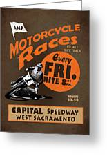 Motorcycle Speedway Races Greeting Card