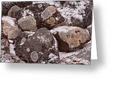 Mottled Stones Greeting Card