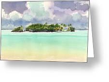 Motu Rapota, Aitutaki, Cook Islands, South Pacific Greeting Card