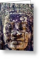 Mould Damage At Angkor Thom Greeting Card