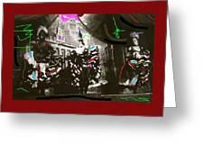 Moulin Rouge Homage Diamond Tooth Gerties Chorus Line Dawson City Yukon Territory Canada 1977-2008 Greeting Card