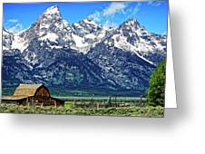 Moulton Barn At Mormon Row Inside Grand Teton National Park Greeting Card