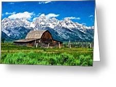 Moulton Barn Impressions Greeting Card