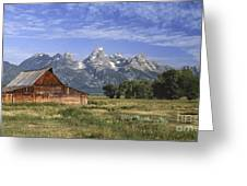 Moulton Barn In The Tetons Greeting Card