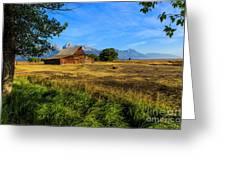 Moulton Barn Jackson Hole Greeting Card