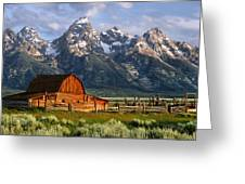 Moulton Barn Greeting Card by Randall Roberts