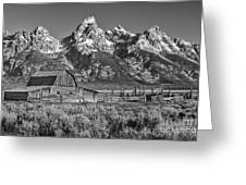 Moulton Cabin - Grand Tetons II Greeting Card