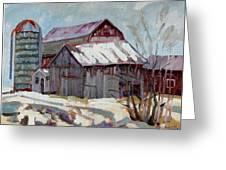 Moultons Barns Greeting Card