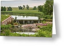 Mound Lake Dam 1 Greeting Card