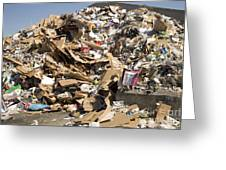 Mound Of Recyclables Greeting Card