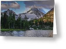 Mount Assiniboine In Clouds Greeting Card