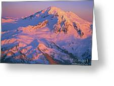 Mount Baker At Sunset Greeting Card