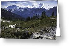Mount Baker From The Lake Ann Trail Greeting Card
