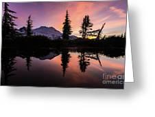 Mount Baker Sunrise Reflection Greeting Card
